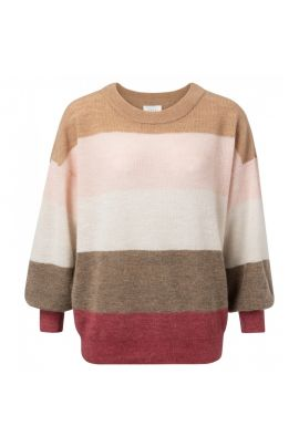 YAYA Sweater with puff sleeves