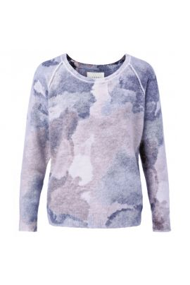 YAYA Sweater with all-over print