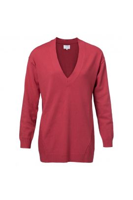 YAYA Red V-neck sweater