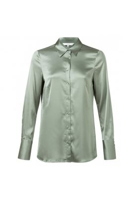 YAYA Satin shirt with cuffs