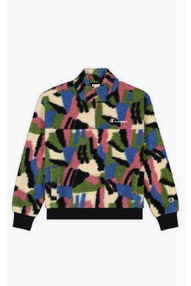 Teddy Fleece Half Zip-Up Jacket
