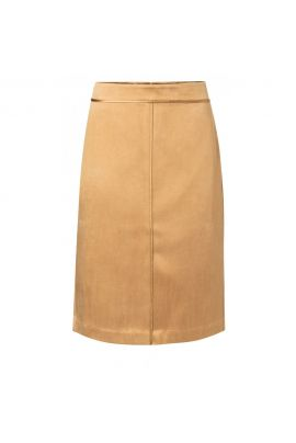 Yaya Satin pencil skirt