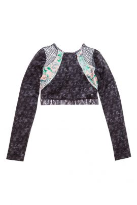 Maaji Long Sleeve Crop Top