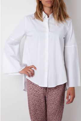 Cubic White Shirt with Loose Sleeves