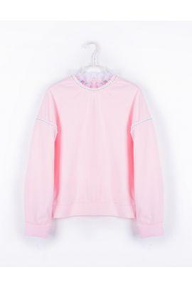 Cubic Pink Sweater with Neck Detail