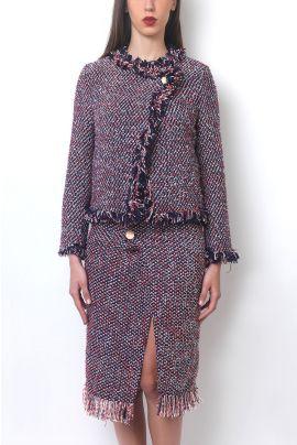Cubic Knit Cardigan