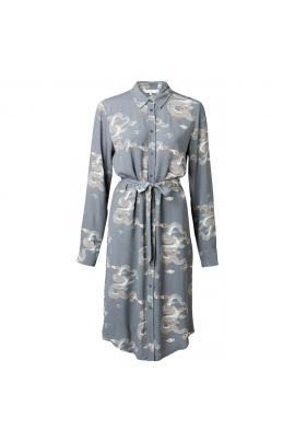 YAYA Shirt dress with Japanese print