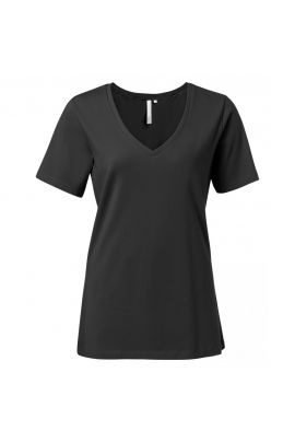 Yaya Jersey V-neck T-shirt with short sleeves