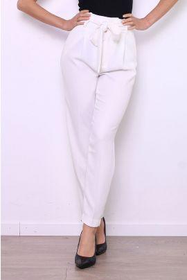 Daphnea High Waist Trousers with Bow