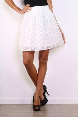 Daphnea Polka Dot Waist Skirt
