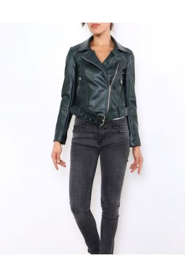 Daphnea Faux Leather Jacket