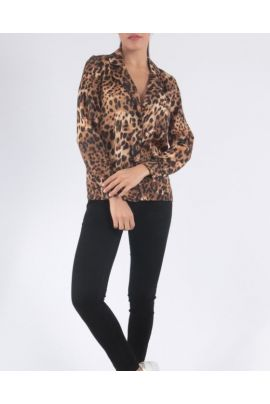 DAPHNEA ANIMAL PRINT SHIRT