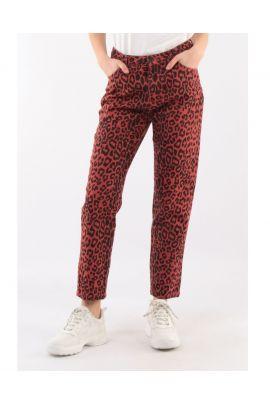 Daphnea Animal Print Jeans