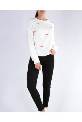 DAPHNEA SWEATER WITH KISS PRINT
