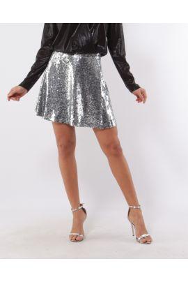 Daphnea Argent Sequined mini skirt