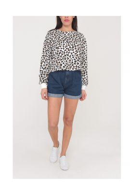 Daphnea animal printed blouse