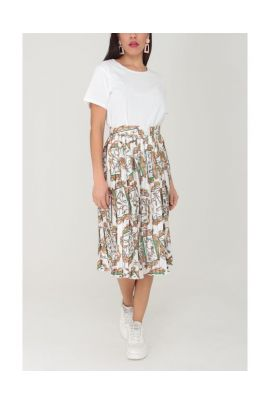 DAPHNEA PLEATED SKIRT WITH TYPE CHAINS TYPE
