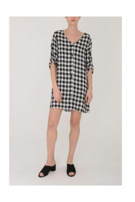 DAPHNEA PLAID LONG SHIRT