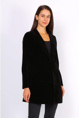 Daphnea Black Velvet Blazer