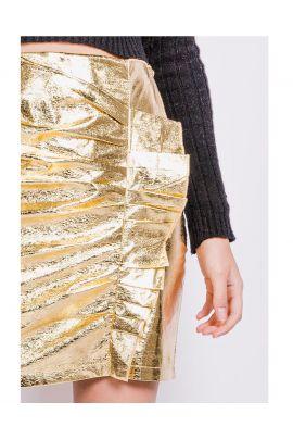 Daphnea Gold mini skirt