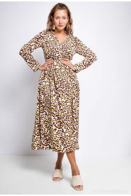 Daphnea Animal Print Dress