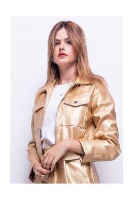 Daphnea Faux Leather Jacket