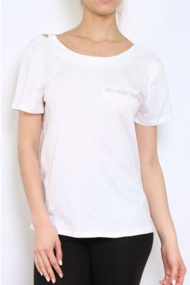 Daphnea T-Shirt with Open Back