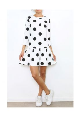 Daphnea Polka Dot Dress