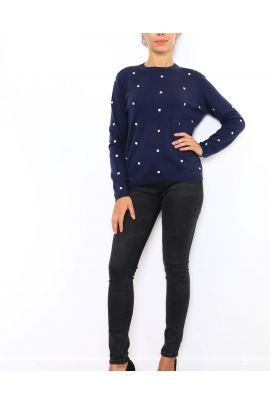 Daphnea Polka Dot Sweater