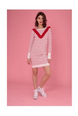 DAPHNEA BLOUSE WITH RED STRIPES