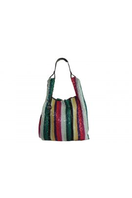 ALEX MAX PRINTED BAG WITH STRIPES