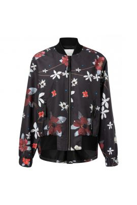 YAYA Bomber coat with flower print