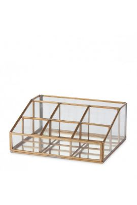 YAYA Desk organizer made from glass and metal