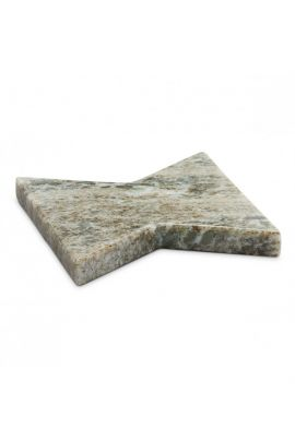 YAYA Brown marble coaster X shape
