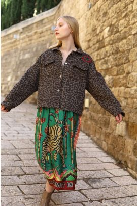 FOREST printed midi skirt
