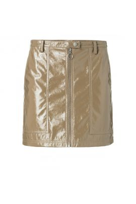 YAYA Patent leather look miniskirt