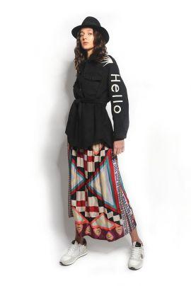 NOMADIC printed midi skirt