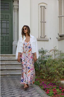 ELNA PRINTED CAMISOLL SAFARI DRESS
