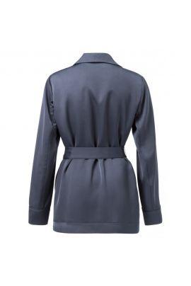 YAYA Satin belted blazer