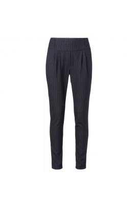 YAYA Woven jersey striped trousers